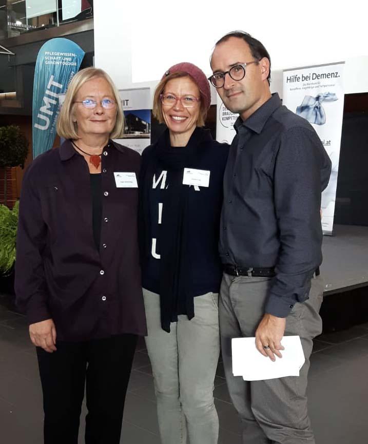Esperta Alzheimer Angela Pototschnigg, Consulente Monika Kripp e Presidente ASAA Ulrich Seitz